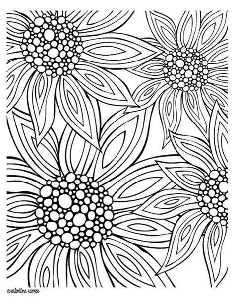 printable coloring pages  summer flowers