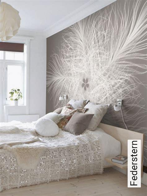 tapeten schlafzimmer modern fototapete federstern die tapetenagentur