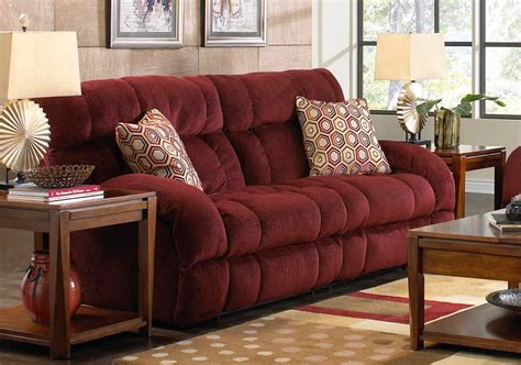 catnapper sectional catnapper siesta lay flat reclining sofa wine cn 1761