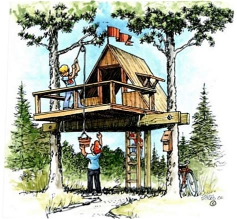 downloadable treehouse playhouse plans plans for