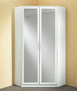 armoire d angle avec miroir click blanc