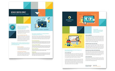 advertising company datasheet template design