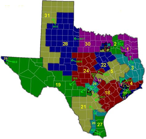 texas state senate districts map texas senate redistricting