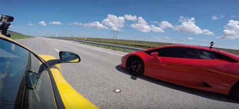 Race Between And Lamborghini Lamborghini Huracan Vs Mclaren 650s Spider Drag Race