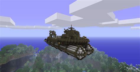 minecraft boat construction airship fleet work boat minecraft project