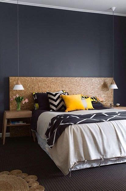 dark feature wall bedroom chipboard bed head black feature wall home pinterest