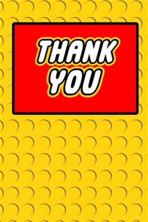 Thank You Card Mini Tema Lego building blocks birthday quot thank you quot tags lego