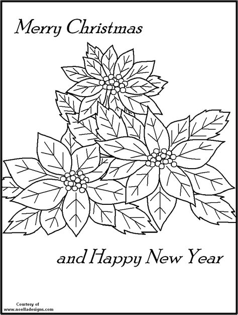 poinsettia coloring page coloring home