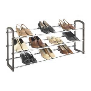 whitmor faux leather 3 tier shoe rack target