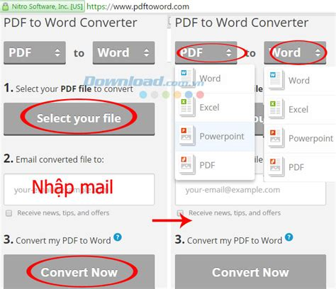 convert pdf to word by nitro convert pdf to word online free