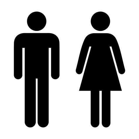 male female bathroom signs vinyl male female toilet sign viro display uk