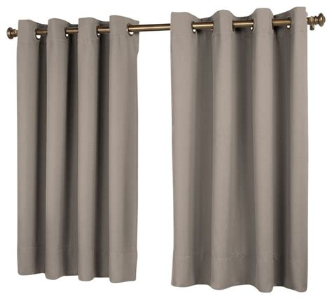 curtains 56 length ultimate black out short length panel grey 56 x 45