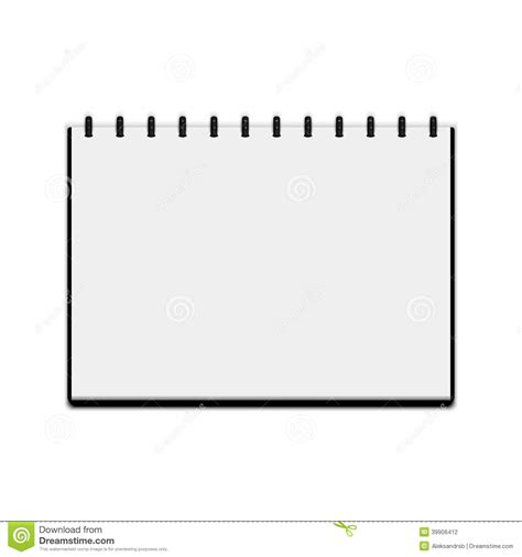 Sketchbook Isolated On White Background Stock Vector