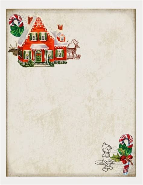 printable elf borders free printable christmas paper great for a note from