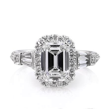 3 01ct emerald cut engagement ring