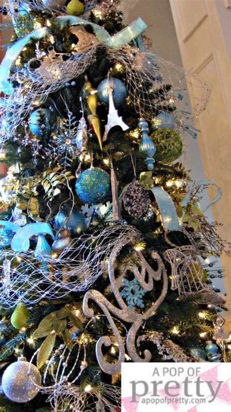 turquoise and silver tree a blue my mantel tree 2010
