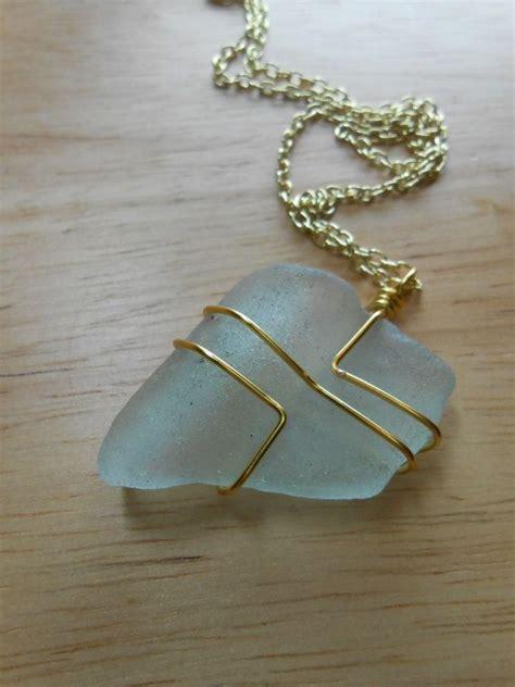 sea glass jewelry wire wrapped beach glass