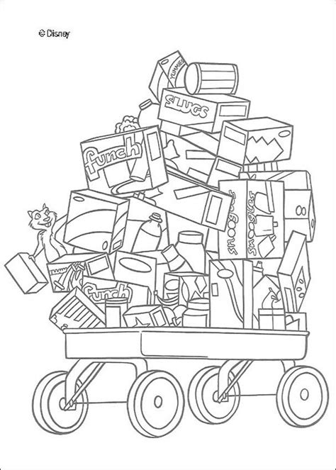 food cart coloring page over the hedge coloring book pages the food cart