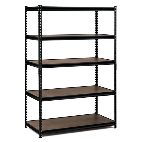home shelving edsal 72 in h x 48 in w x 24 in d 5 shelf steel