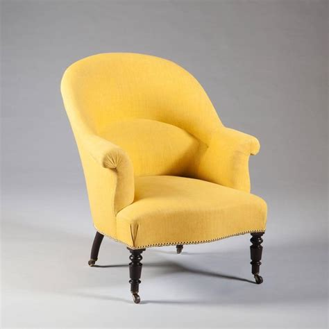 tub armchairs for sale pair of french antique yellow and black bergeres tub