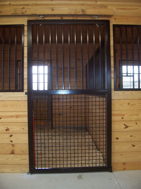Custom Stall Door With Grills And Mesh Precise Buildings Barn Stall Doors