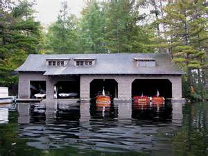 modern interior lake boathouse designs