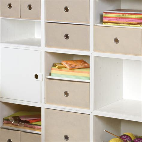 White Fabric Drawer by Fabric Drawers Fabric Drawers Cubeicals Fabric Bin
