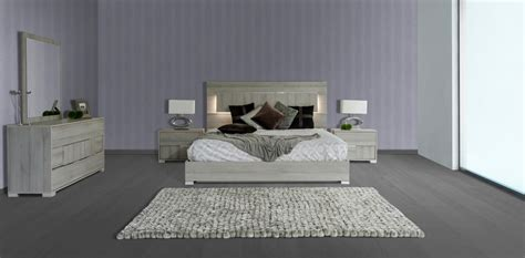 vig modrest ethan grey veneer headboard w led king bedroom