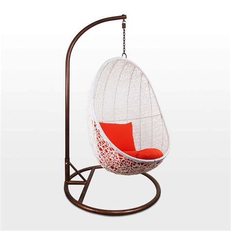 White Swing Chair by White Cocoon Swing Chair Orange Cushion Outdoor Garden