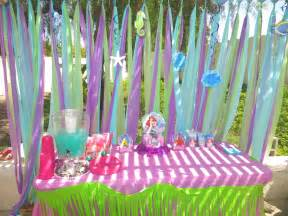 mermaid theme decorations arianna s 3rd birthday decorations the