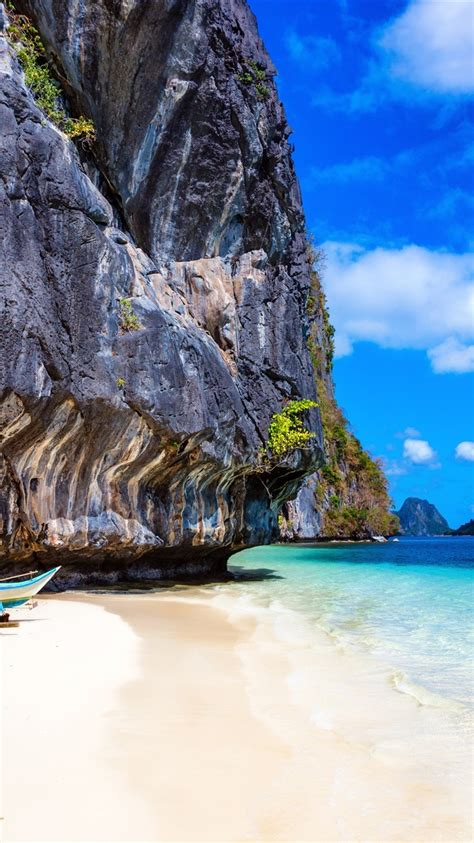 philippinen strand felsen meer  uhd