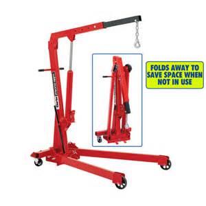 Garage Storage Machine Mart Clarke Cfc100 1 Tonne Folding Workshop Crane Machine