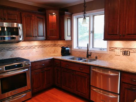 kitchen backsplash cherry cabinets gen4congress
