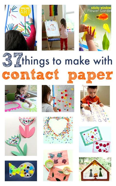 Contact Paper Craft Ideas - things to make for and contact paper on