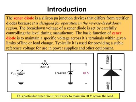 zener diode function and uses zener diodes