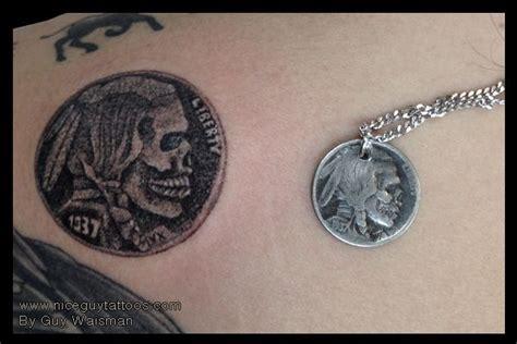 tattoo ink nickel hobo nickel tattoo guy waisman coin currency tattoos