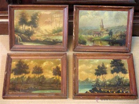 precio de cuadros al oleo 4 cuatro cuadros paisajes al 243 leo de 20 x 16 c comprar