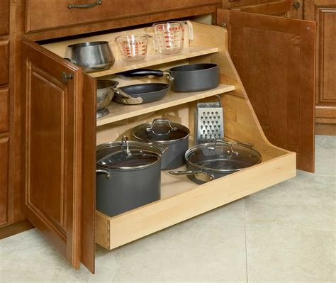 kitchen cabinet storage shelves pot and pan organizer for the home