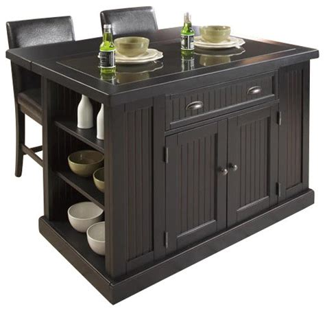 home styles nantucket kitchen island home styles nantucket kitchen island distressed black finish transitional kitchen islands