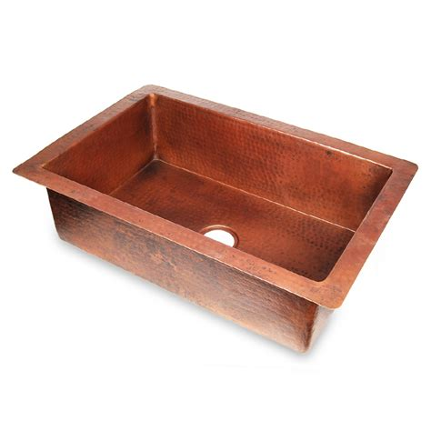 shop d vontz single basin undermount copper kitchen sink