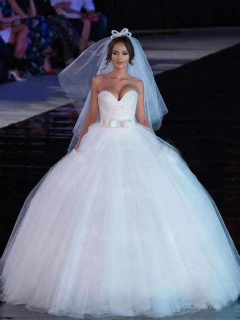 Gown Sweetheart Wedding Dress by Gown Sweetheart Tulle Wedding Dresses Bridal Gowns