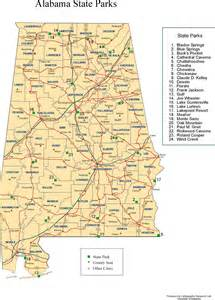 Alabama State Parks Map by Alabama Maps Recreation