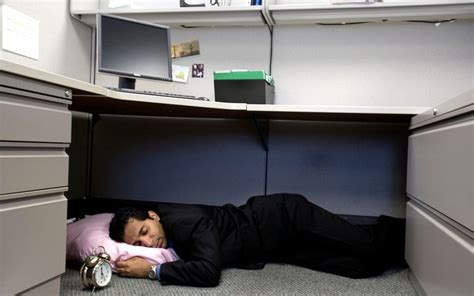 napping desk bosses should allow staff afternoon naps at work to boost