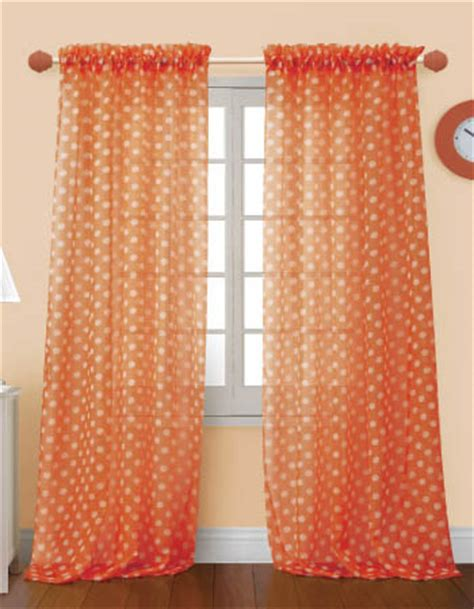 Sheer Curtains Orange 4 Styles Of Orange Sheer Curtains