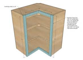kitchen corner cabinet plans ana white wall corner pie cut kitchen cabinet diy projects