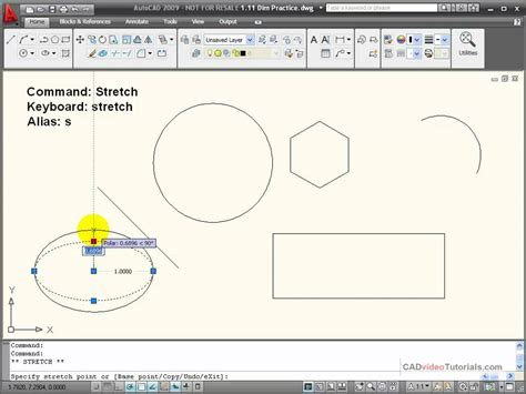 command pattern video tutorial autocad tutorial using the stretch command youtube