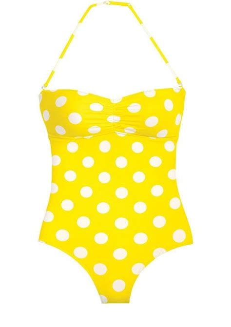 polka dot swimsuit yellow polka dot well onepiece mystyle