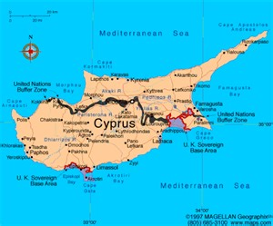 Cyprus World Map by Atlas Cyprus