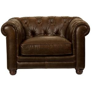 bassett chesterfield leather sofa w tufted back