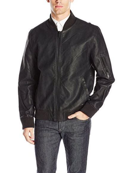 A6200 Cp Calvin Jaket calvin klein men s faux leather aviator jacket fashionmethat